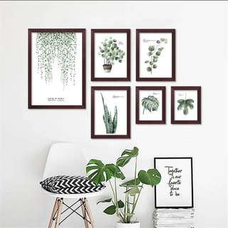 Leaf Prints On Canvas X 2
