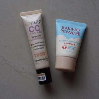 Bourjois CC Cream & Etude Baking Powder (PRELOVED) All RP. 125000