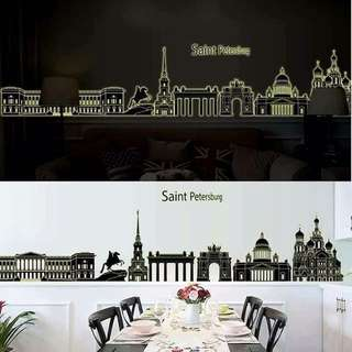 Country Places Design Wall Sticker