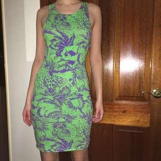 Motel Rocks Patterned Cut Out Dress