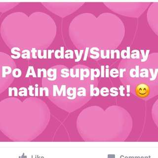Saturday/Sunday Supplier Day