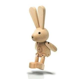 全新agnes b.限量版原木雙腳可動兔仔 女仔最愛