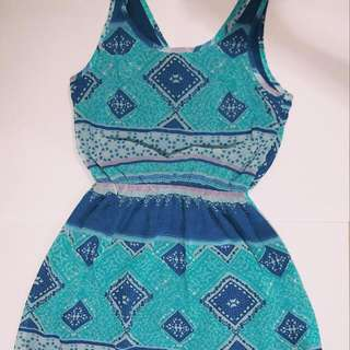 blue pattern dress by H&M