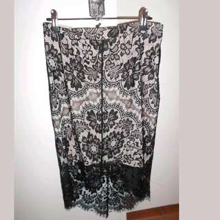 Black Lace Skirt Size 12 BNWT