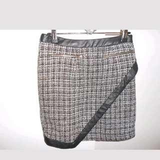 Plaid Check Work Skirt Size 8