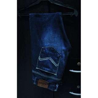 JAG Denim Dark Blue Slim Fit Pants
