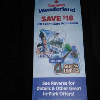 Canada's Wonderland Coupon