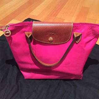 Longchamp Top Handle Pink Small Bag