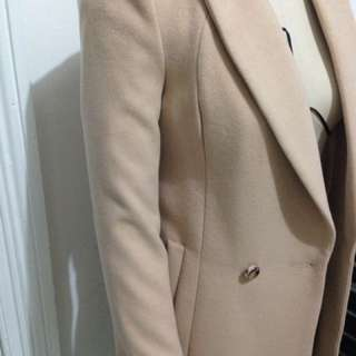 Forever New Nude Beige Winter Coat Size 4