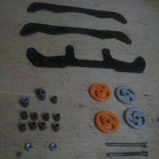 Tamiya parts Carbon Bumper, Roller Berings, Spacer