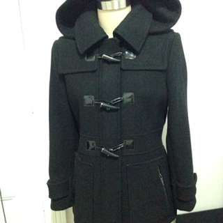 Michael Kors Black Winter Coat With Removable Hood Size 8