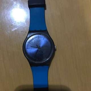 Original Swatch New Gent All Black (straps were replaced)