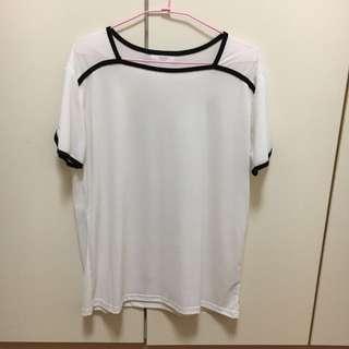 《全新》韓版白色上衣