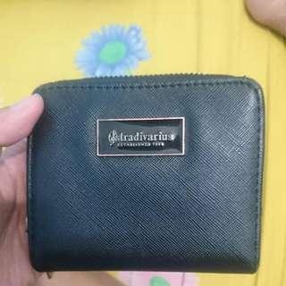 Stradivarius Black Zipper Wallet