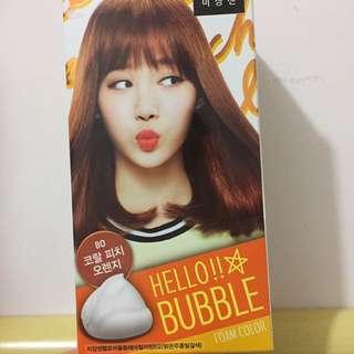 韓國hello Bubble染髮