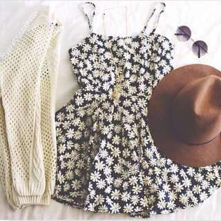 (CLEARANCE) Daisy Romper Dress