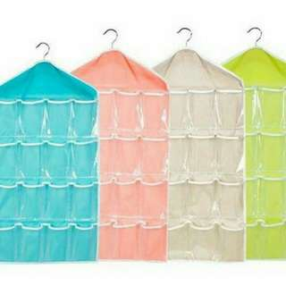 16 Grid Hanging Bag Socks/Underware Storage Organizer
