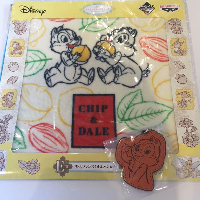 迪士尼一番賞奇奇蒂蒂手帕吊飾
