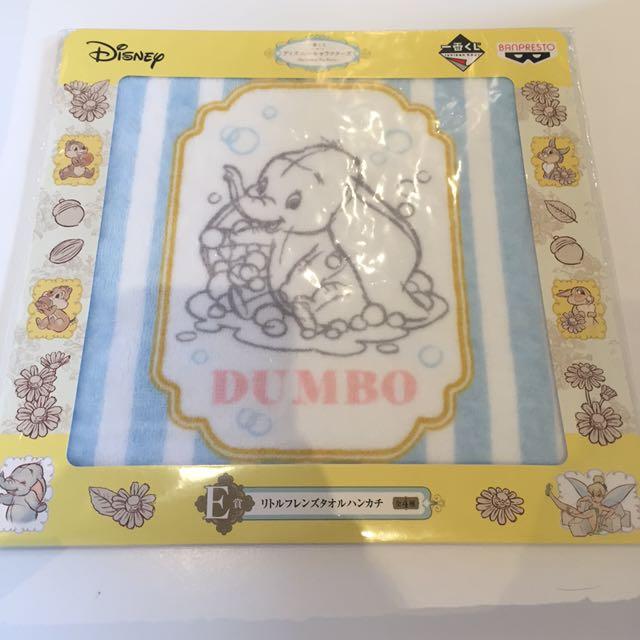 迪士尼一番賞小飛象手帕