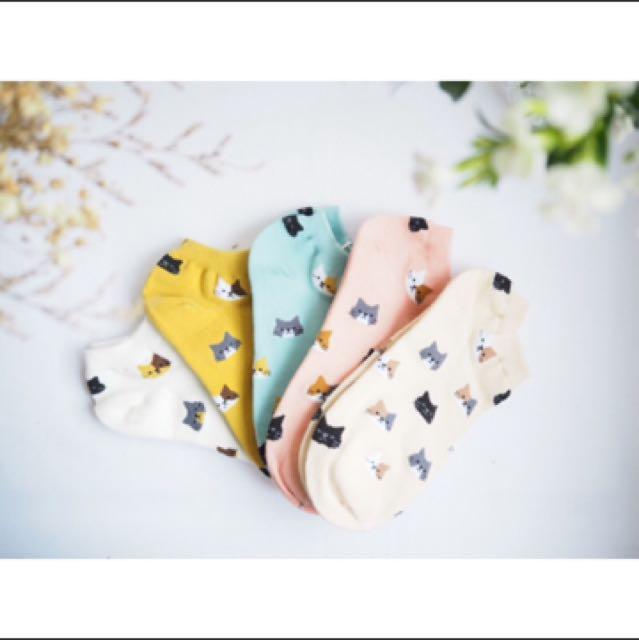 日系貓咪女短襪