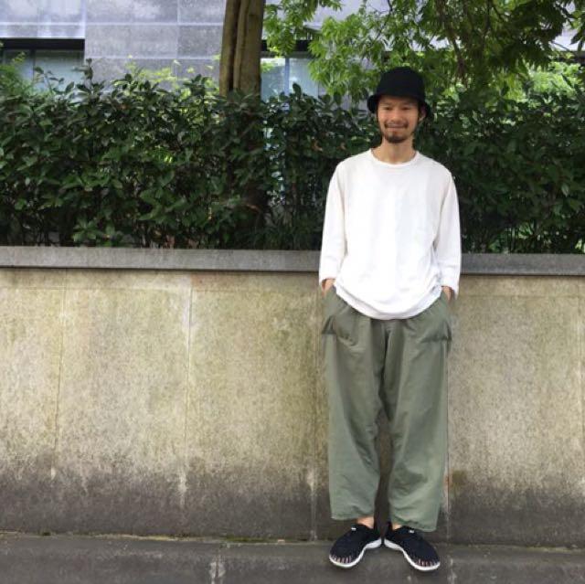 日系直筒九分寬褲