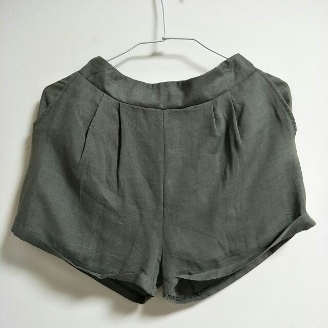 全新特價~  青葡綠 麻料短褲  #旺旺一路發