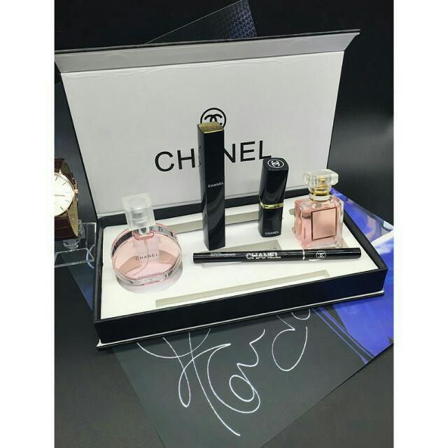 預購 🎀香奈兒五件香水彩妝組禮盒 Chanel 香水彩妝5五件套裝禮盒🎁