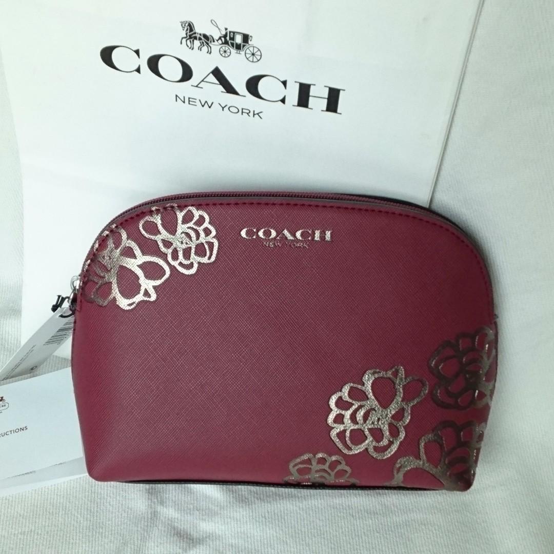 coach poppy flower blossom cosmetics case womens fashion bags photo photo mightylinksfo