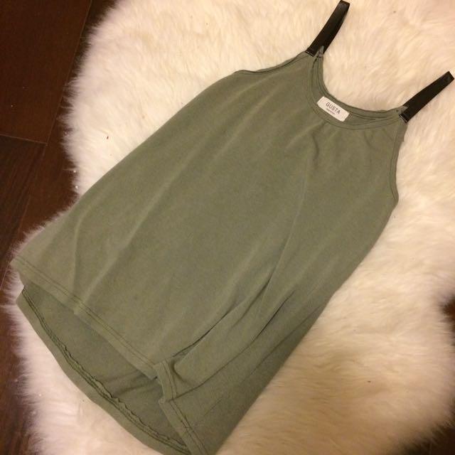 橄欖綠背心 Strapped Top