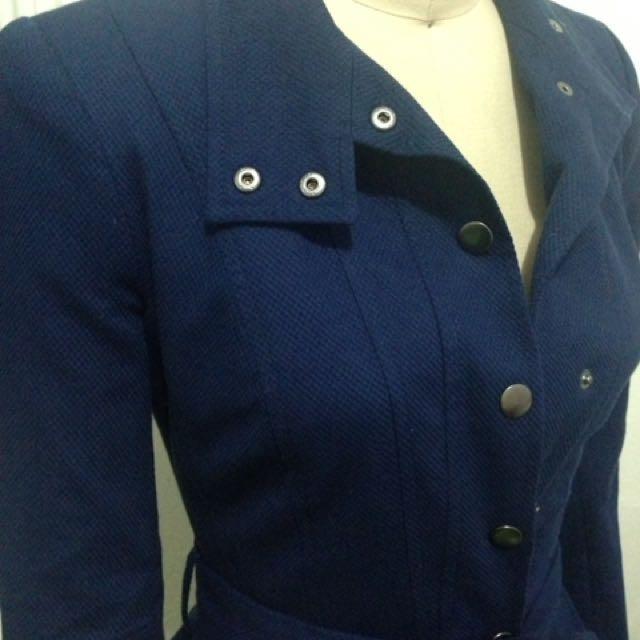 Asos Brand New Navy Blue Winter Coat Size 4