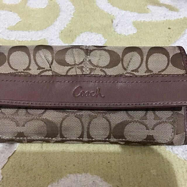 Authentic Signature Coach Wallet