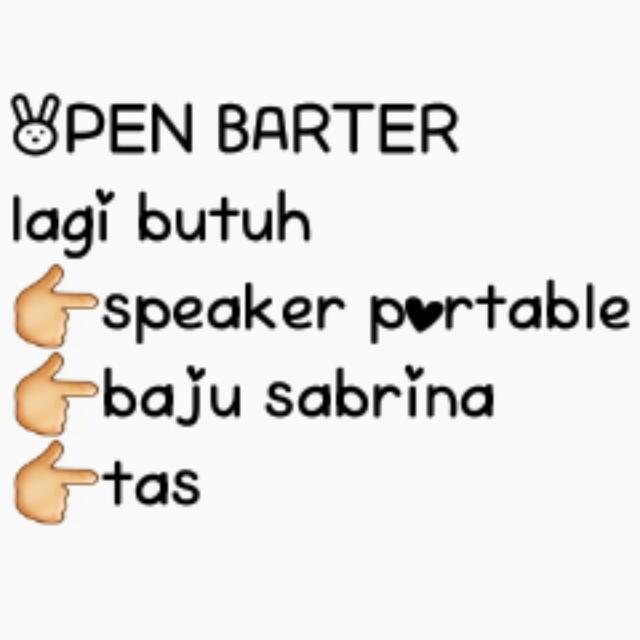 BARTER YUK !!