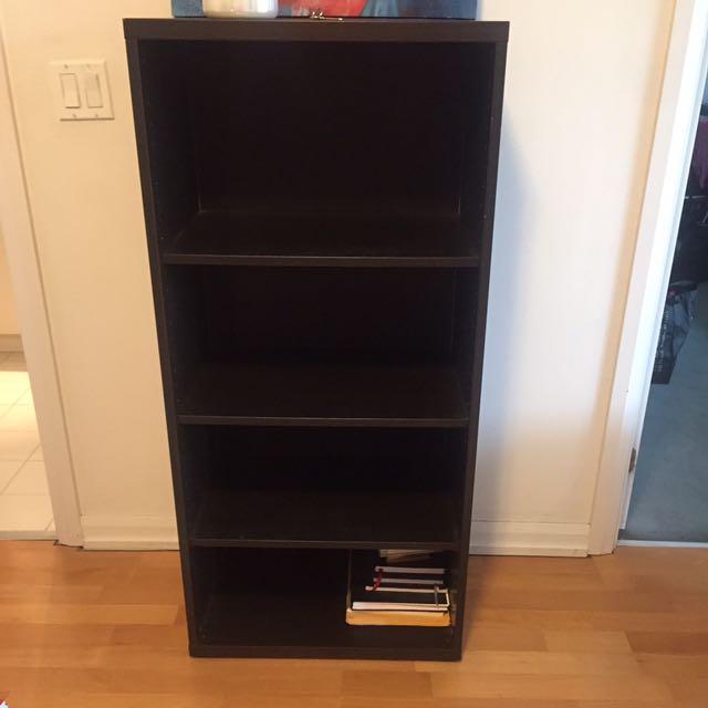 Black Deep Bookshelf