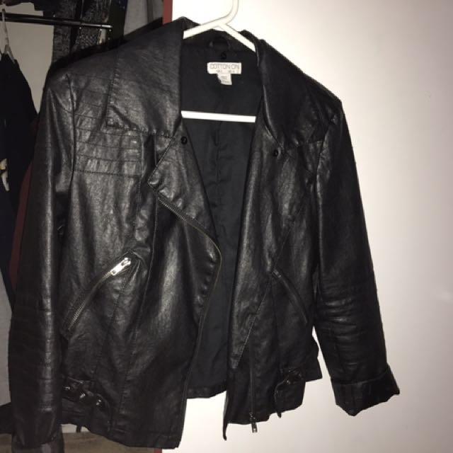 Black Leather Jaxkef