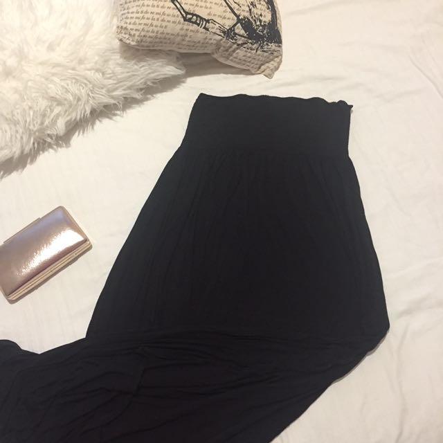 Black Maxi Dress H&M Size M