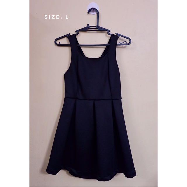 Black Neoprene Dress