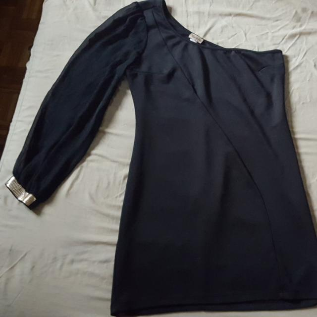 REDUCED $ - Black One Sleeved Dress