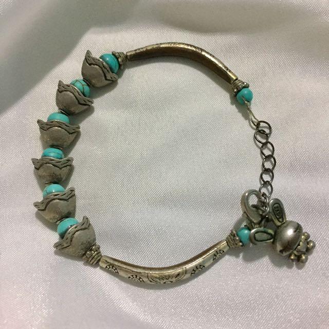 Blue Bunny Bracelet