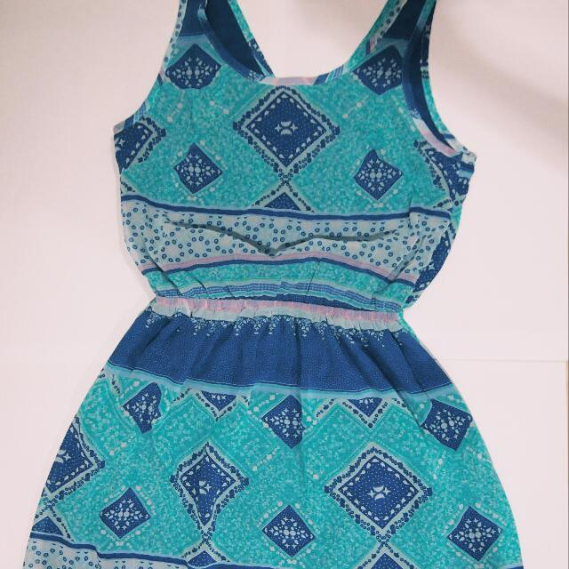 blue pattern dress by H&M