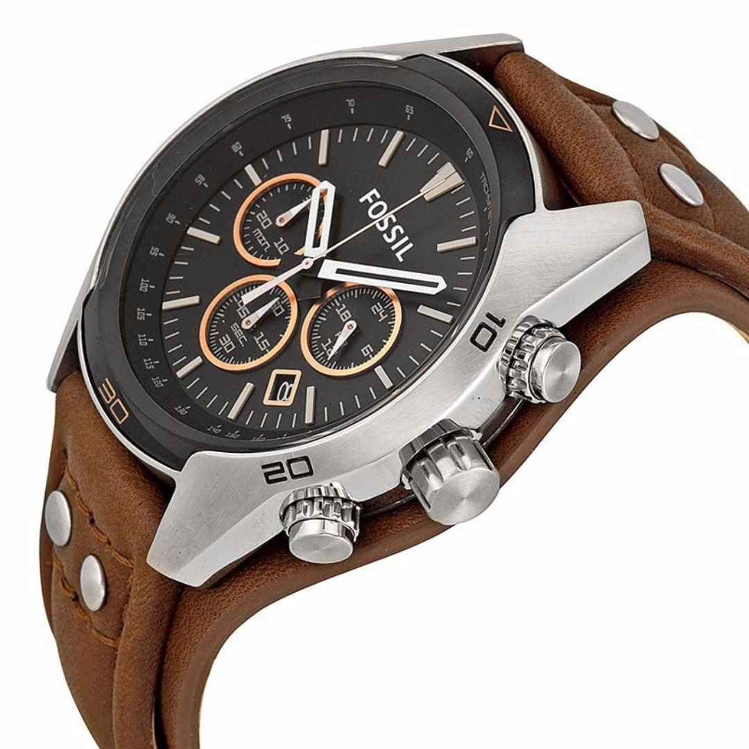 14a57519e Brand New - Fossil Coachman Chronograph Men's Brown Leather Watch ...