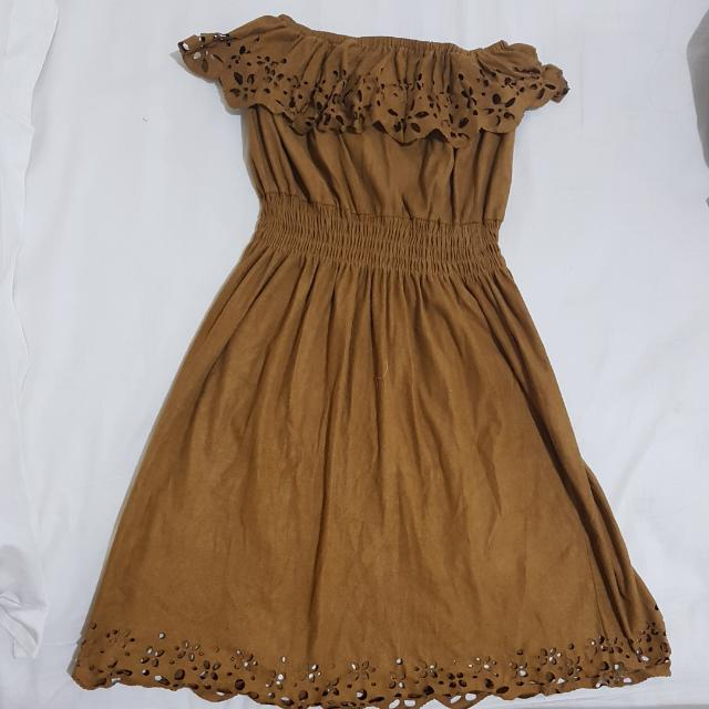 Brown Tube Dress