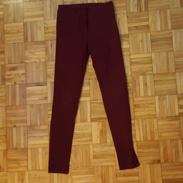 Burgundy Stretchy Pants - Small