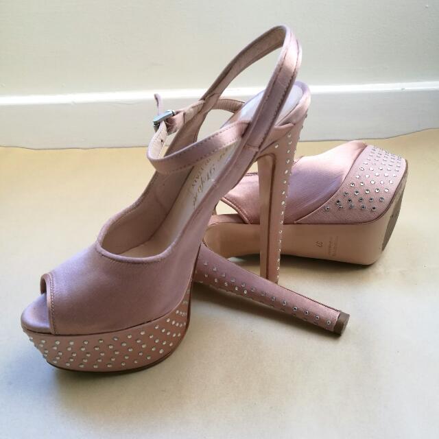 CHEAP STEFANO STEFANI Baby Pink Heels