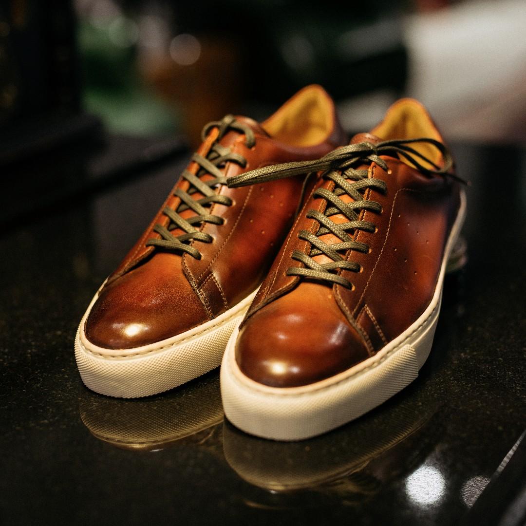 Cnes Solitaire Franklin Tennis Sneaker Italian Calf Leather Men S Fashion Footwear On Carou