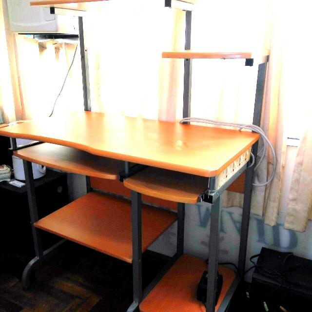 Computer Table Shelves Can Put Cpu Printer Keyboard Drawer Mouse