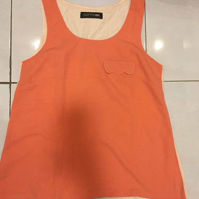 COTTON INK SLEEVELESS TOP