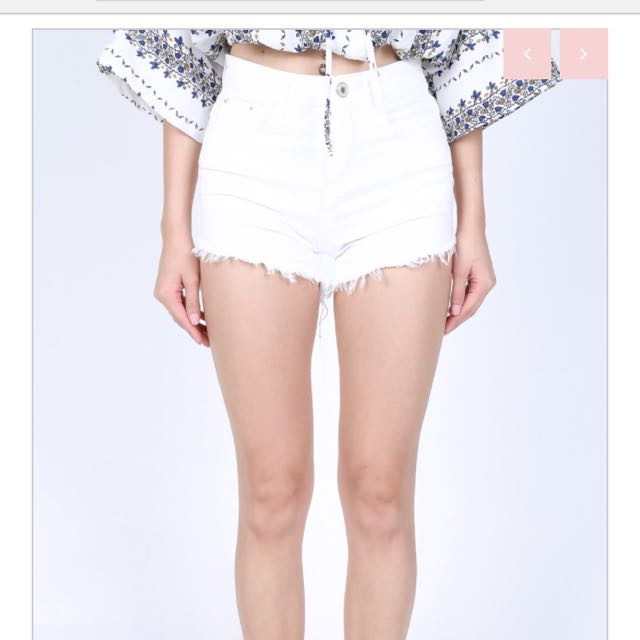 7e759c7fd7 CUTTING EDGE FRAYED SHORTS IN WHITE, Women's Fashion, Clothes, Pants ...