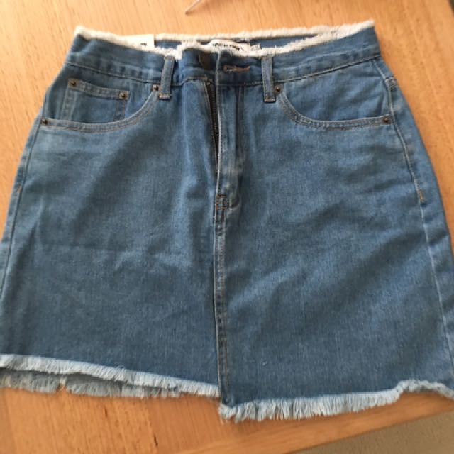 Denim Skirt- From Pretty Little Thing- Size UK. 12