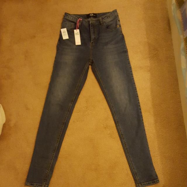 Dotti High Waisted Blue Jeans   Size 10