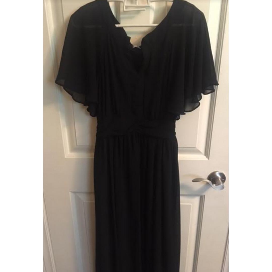 Floor-length, vintage looking dress